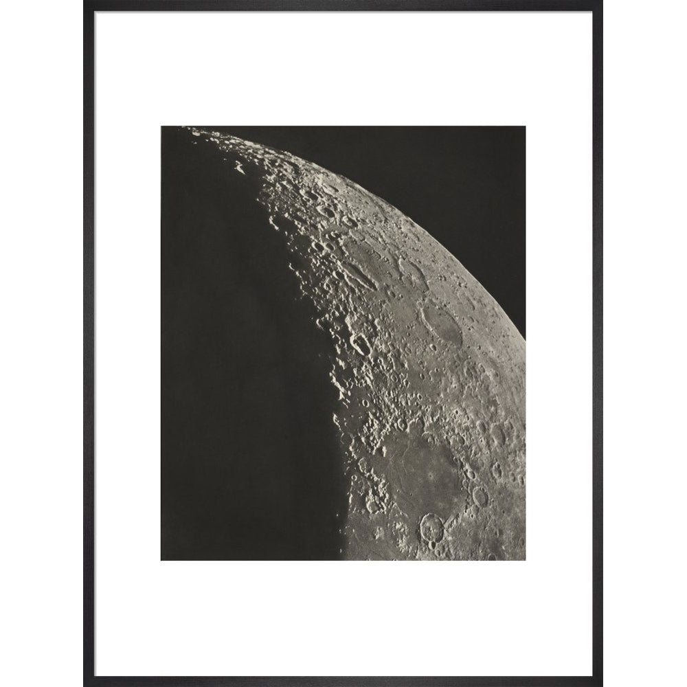 The Moon print in black frame