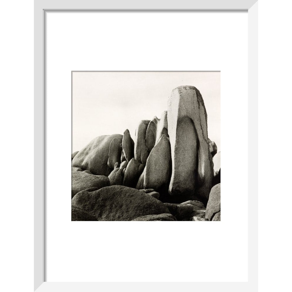 White Rocks print in white frame