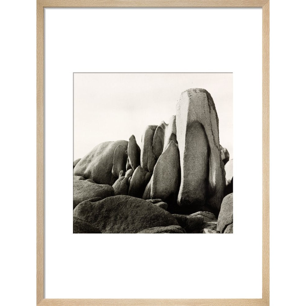 White Rocks print in natural frame