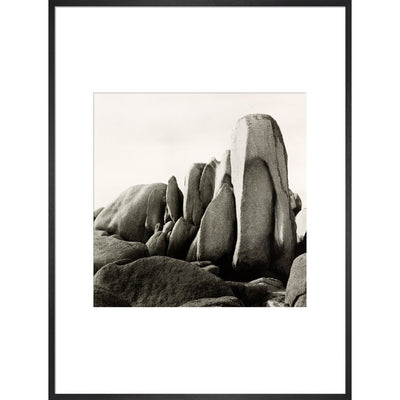 White Rocks print in black frame
