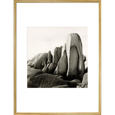 White Rocks print in gold frame
