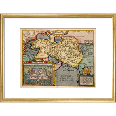 Asia print in gold frame