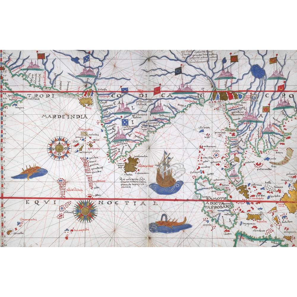 Chart of the Indian Ocean print