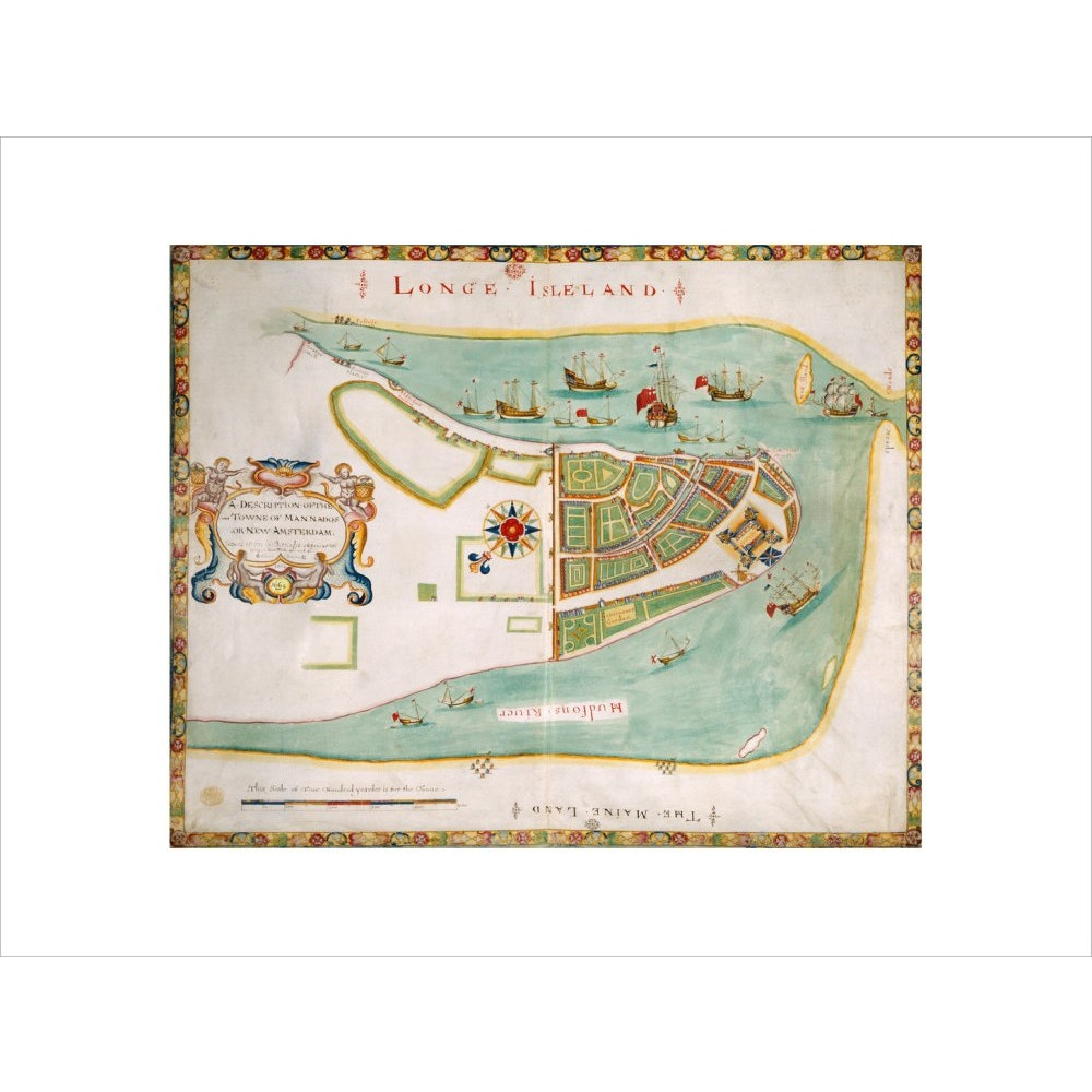 Map of New York or New Amsterdam print unframed