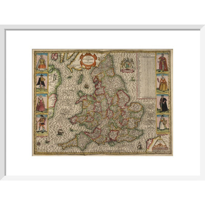 Map of the Kingdom of England print