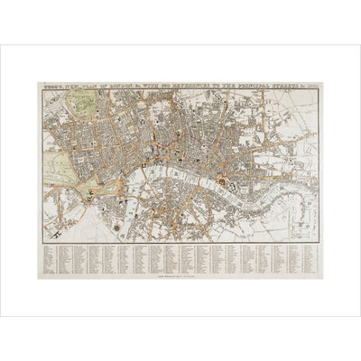 Plan of London print unframed