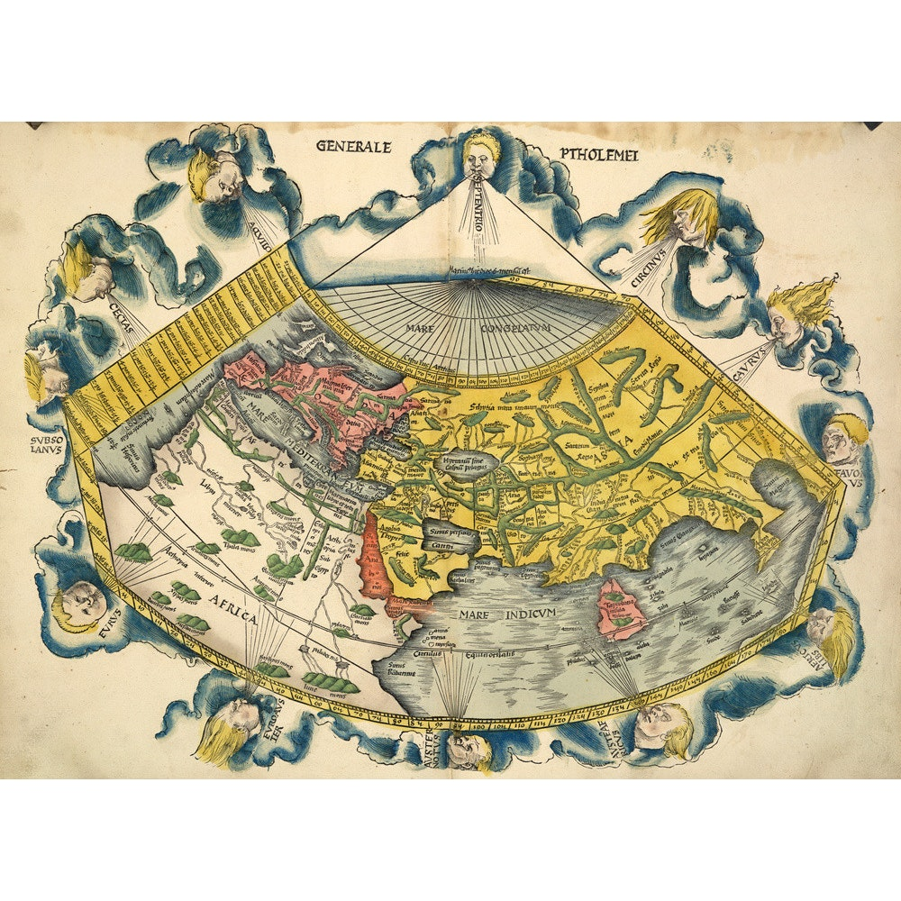 Ptolemic World Map print