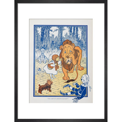 The Cowardly Lion print