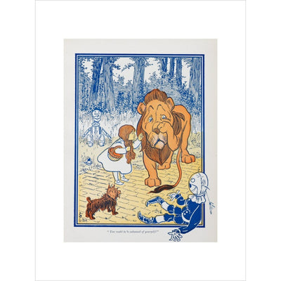 The Cowardly Lion print unframed