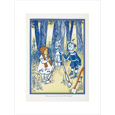 Dorothy, Tin Woodman and the Scarecrow print