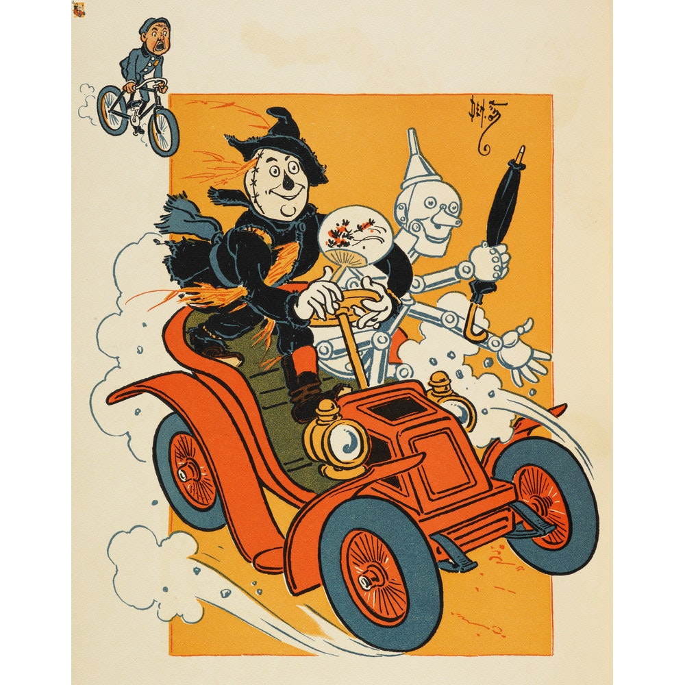 The Scarecrow and Tin-man Driving print