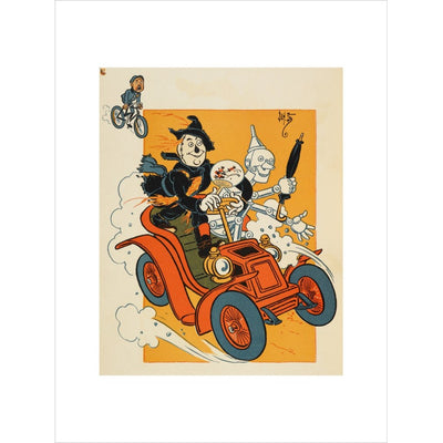 The Scarecrow and Tin-man Driving print unframed