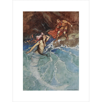 Mermaid print unframed