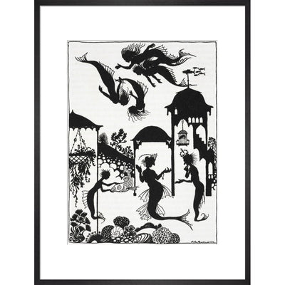 The Little Mermaid print in black frame