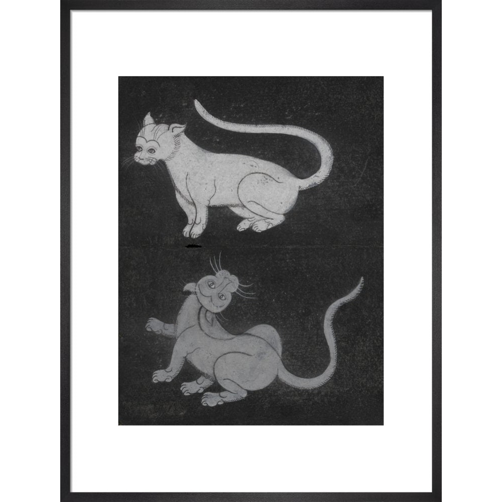 Thai cats print in black frame
