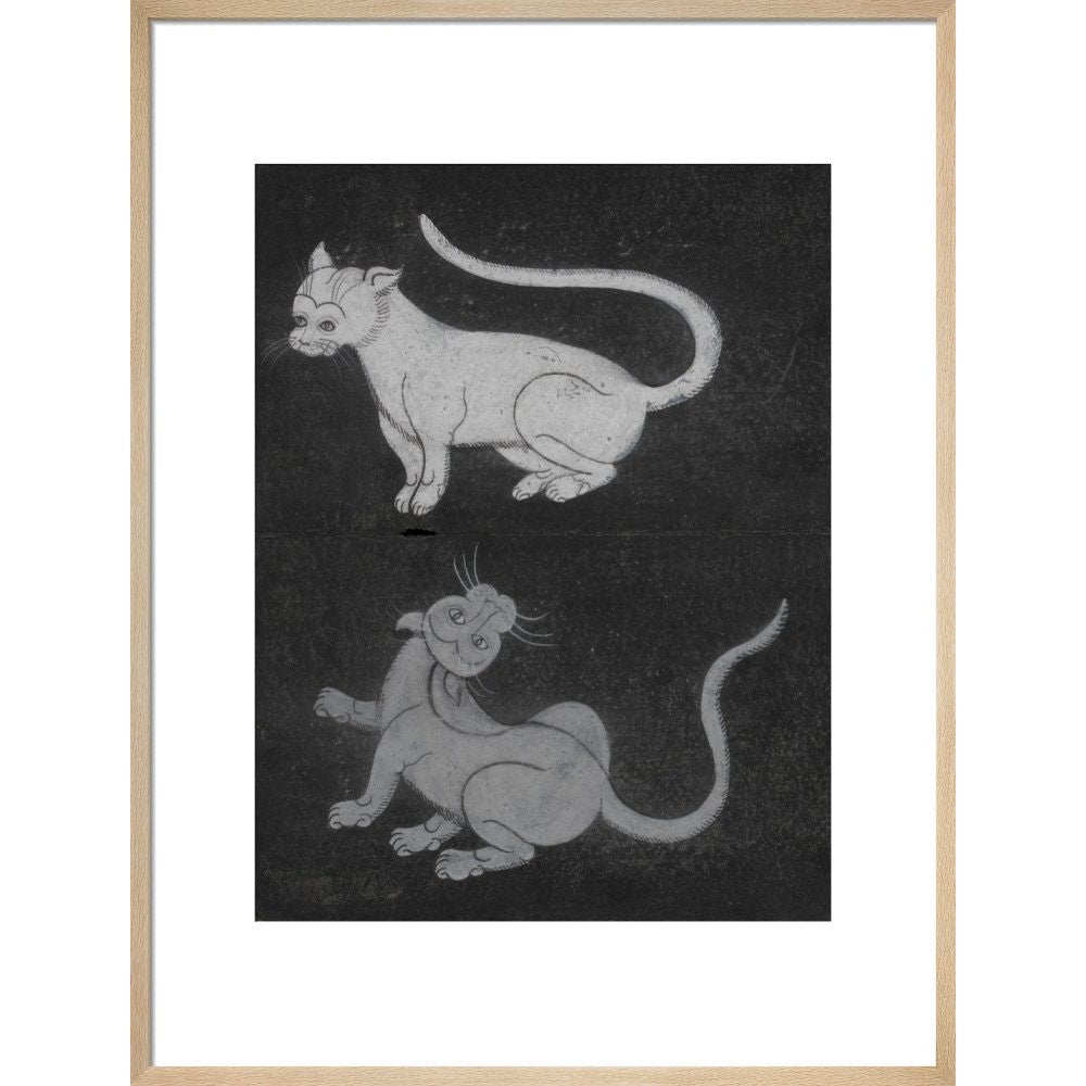 Thai cats print in natural frame