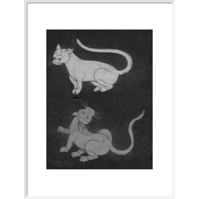 Thai cats print in white frame