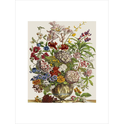 Flowers in a vase print unframed