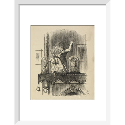 Through the looking-glass, and what Alice found there print in white frame