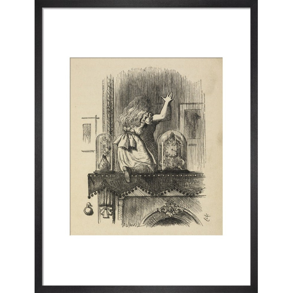 Through the looking-glass, and what Alice found there print in black frame