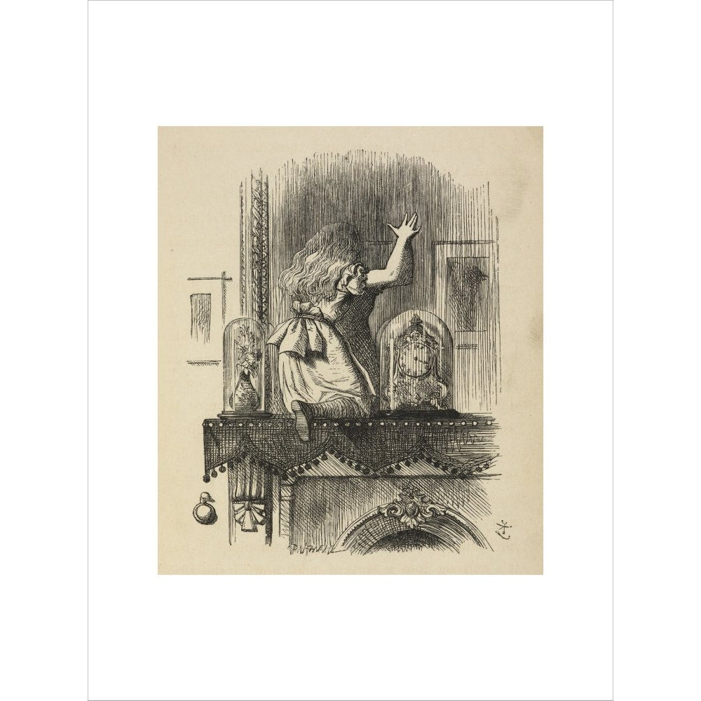 Through the looking-glass, and what Alice found there print unframed