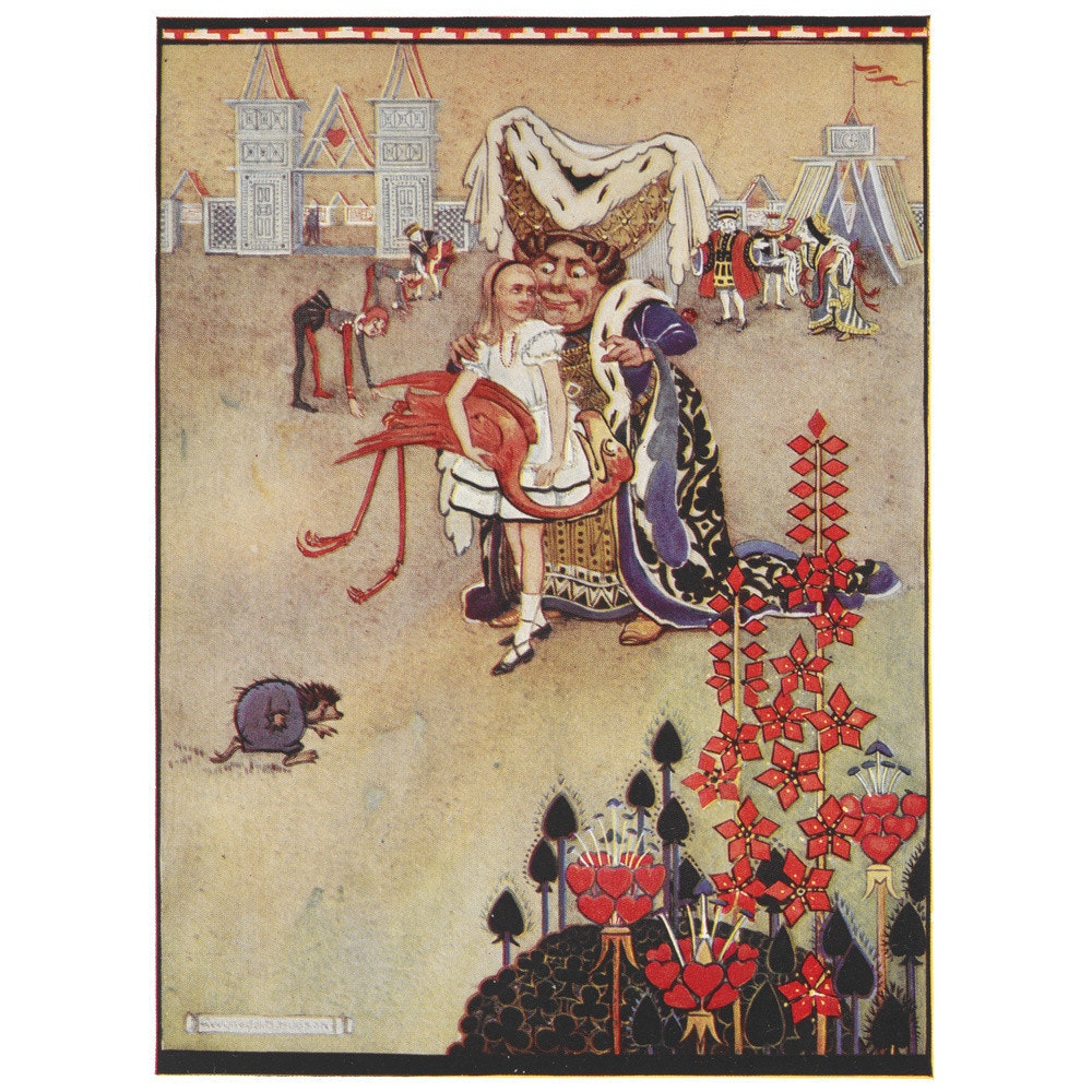 Alice playing croquet print