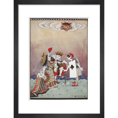 The Queen of Hearts print in black frame