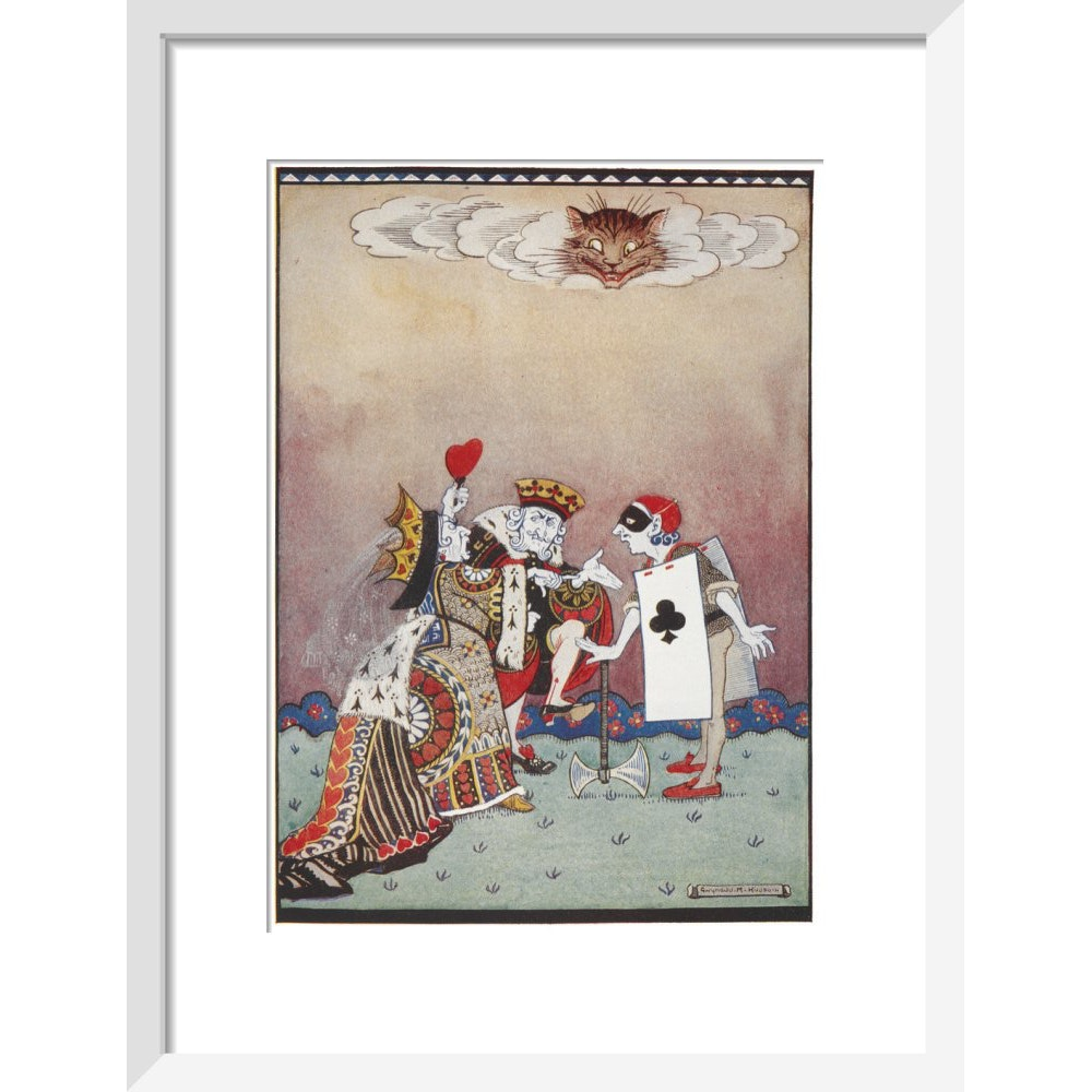 The Queen of Hearts print in white frame