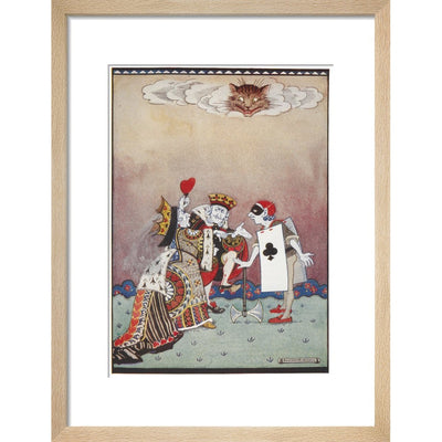 The Queen of Hearts print in natural frame