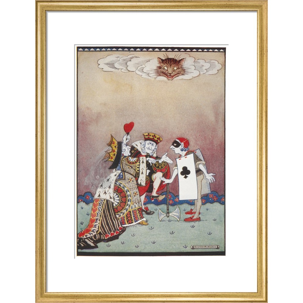 The Queen of Hearts print in gold frame
