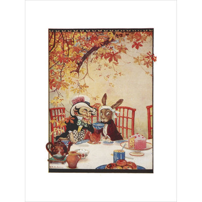 The Mad Hatter's Tea party print unframed
