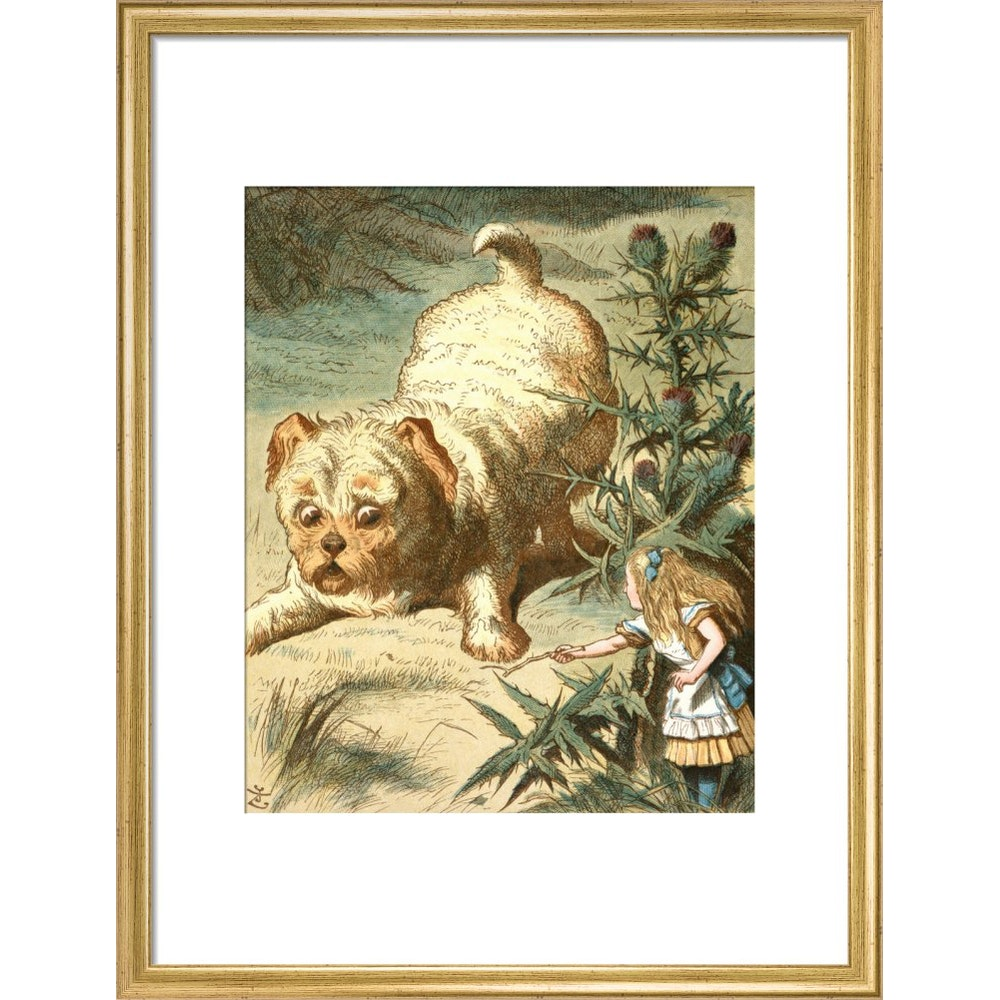 Dash the puppy print in gold frame