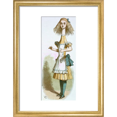 Alice growing print in gold frame
