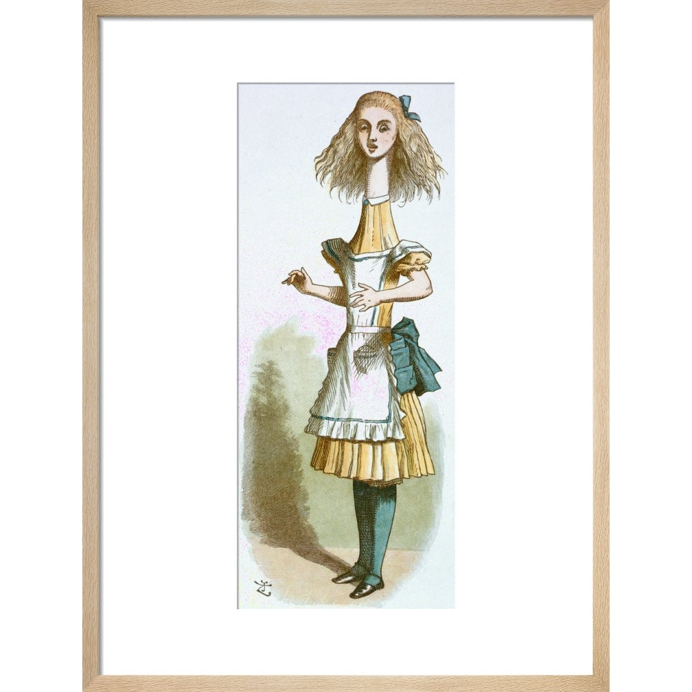 Alice growing print in natural frame