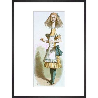 Alice growing print in black frame