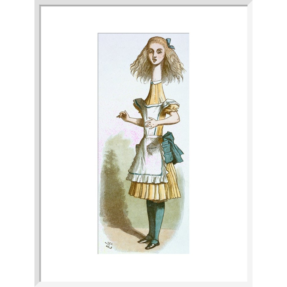 Alice growing print in white frame