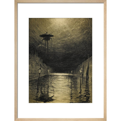 The Flooded City print in natural frame