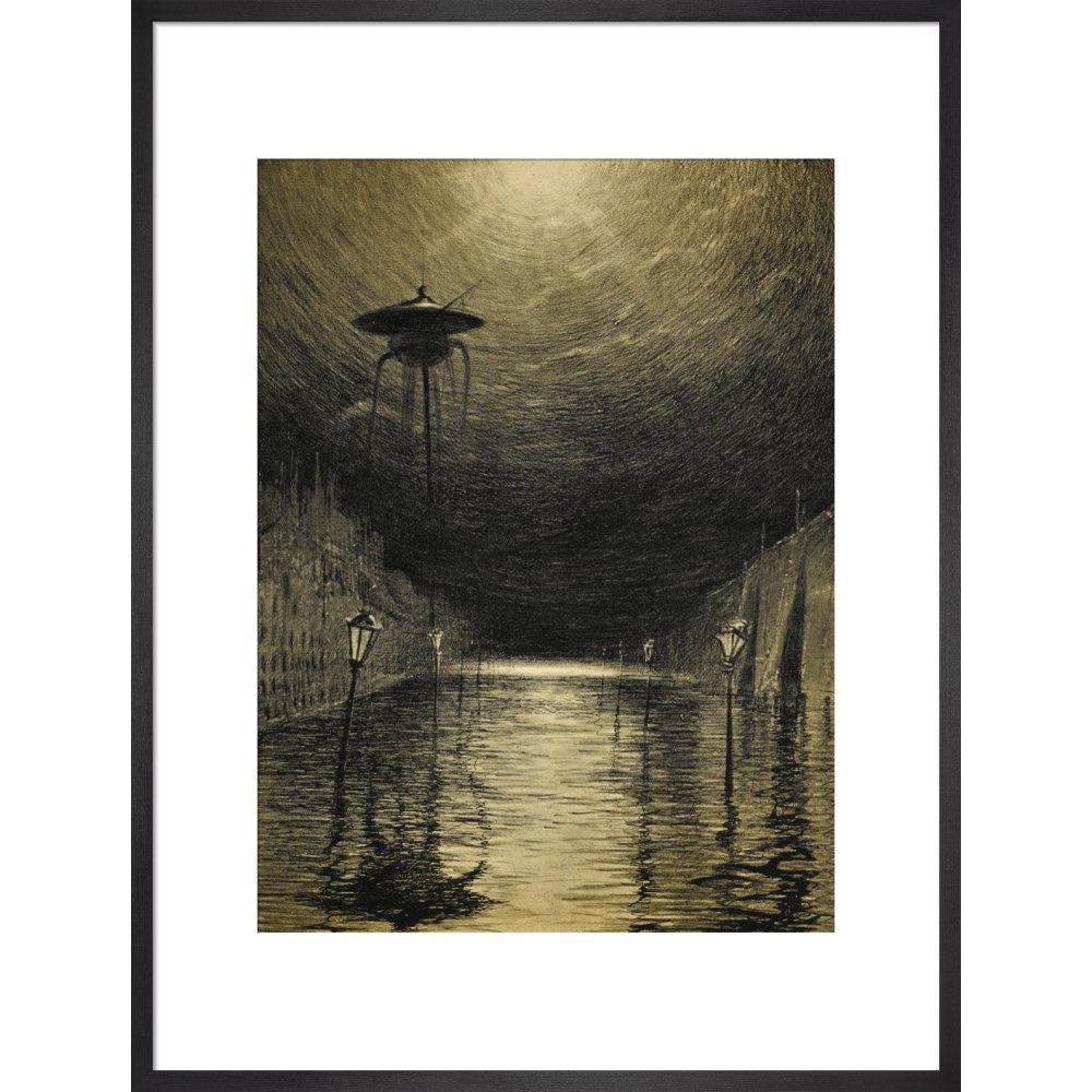 The Flooded City print in black frame