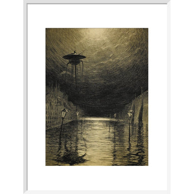 The Flooded City print in white frame