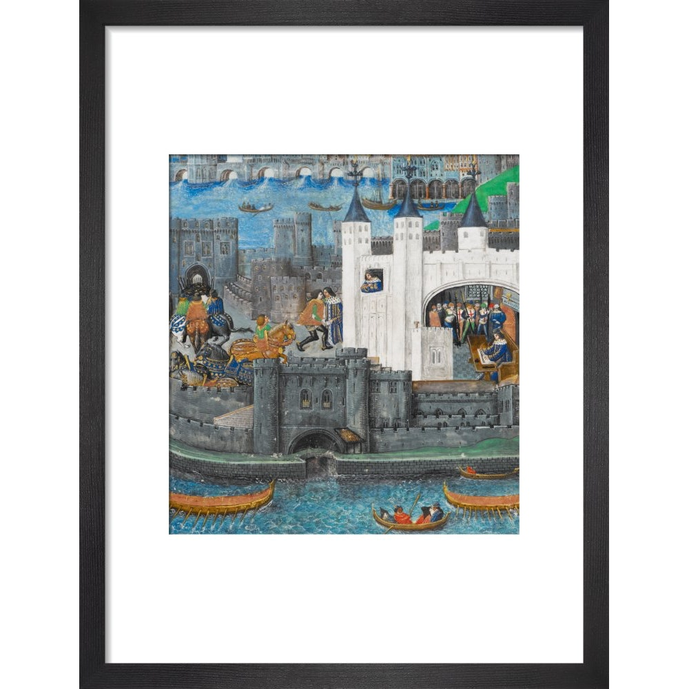 Charles of Orléans in the Tower of London print in black frame