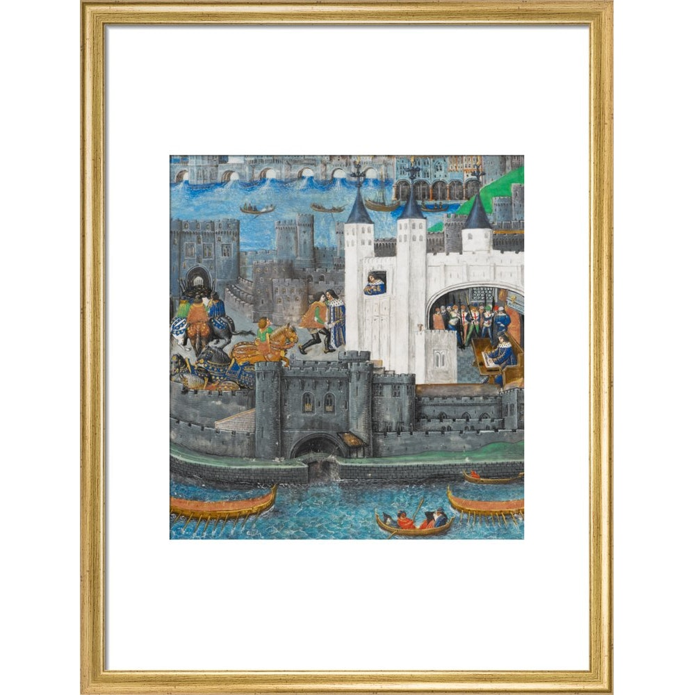 Charles of Orléans in the Tower of London print in gold frame