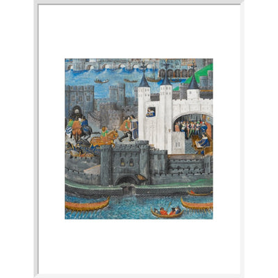 Charles of Orléans in the Tower of London print in white frame