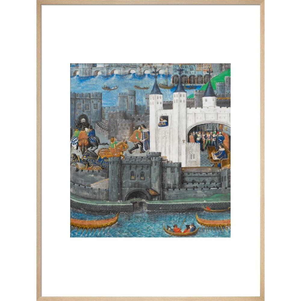 Charles of Orléans in the Tower of London print in natural frame
