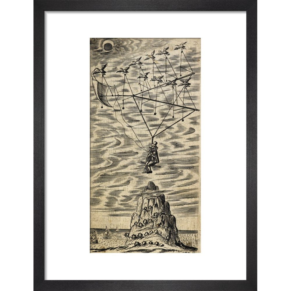 The Man in the Moone print in black frame