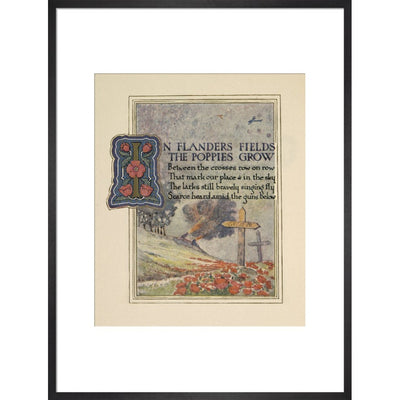 In Flanders fields print in black frame