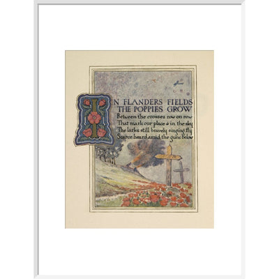 In Flanders fields print in white frame