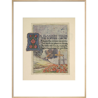 In Flanders fields print in natural frame