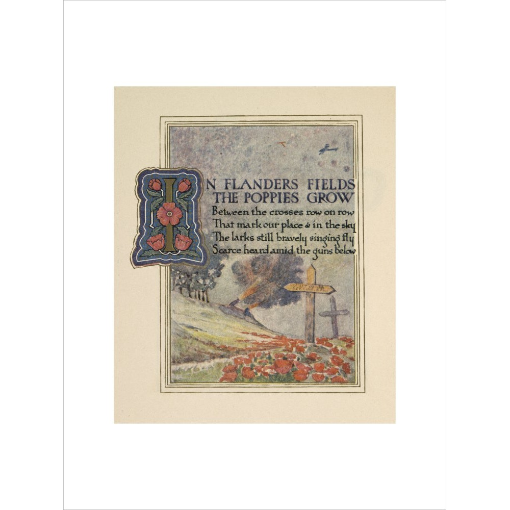 In Flanders fields print unframed
