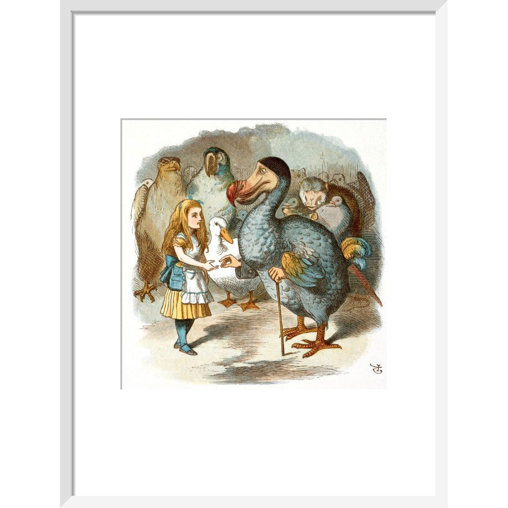The Caucus-Race print in white frame