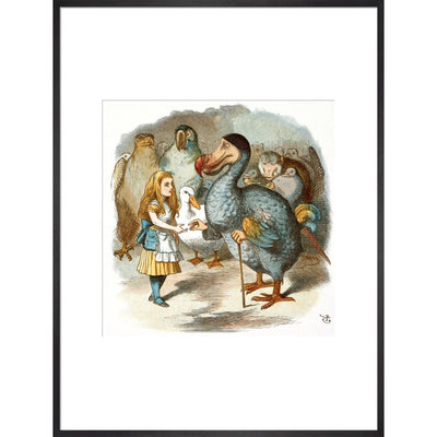 The Caucus-Race print in black frame